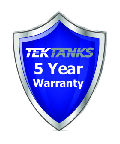Tek-Tanks 5 Year Warranty