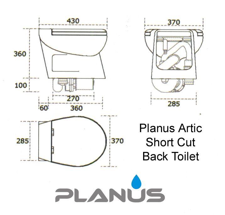 Planus Artic Short Cut Back Dimensions